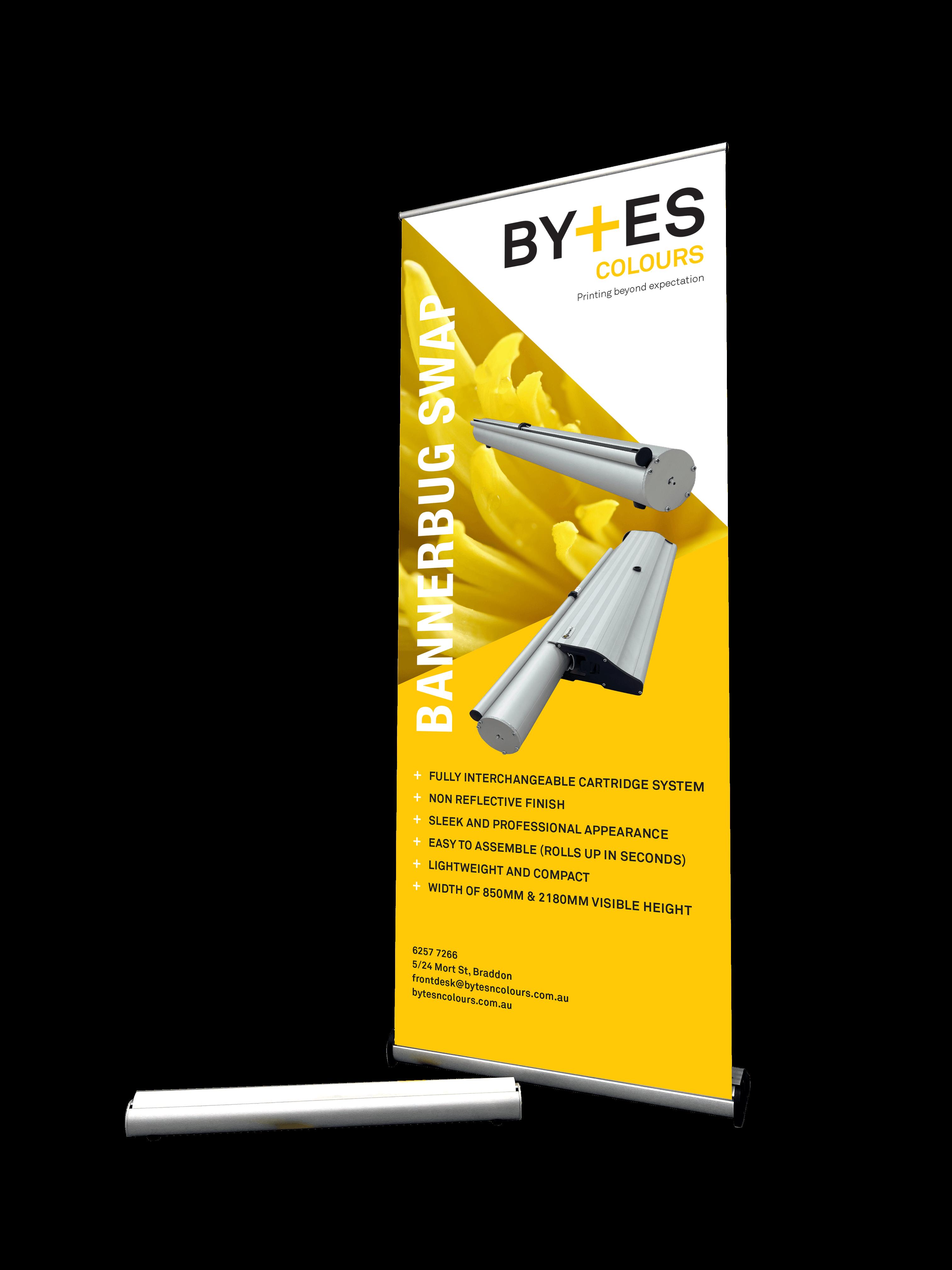 Banner Bug Swap Pull Up Banner Signage System